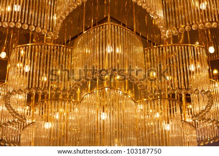 Chandelier close-up - stock photo