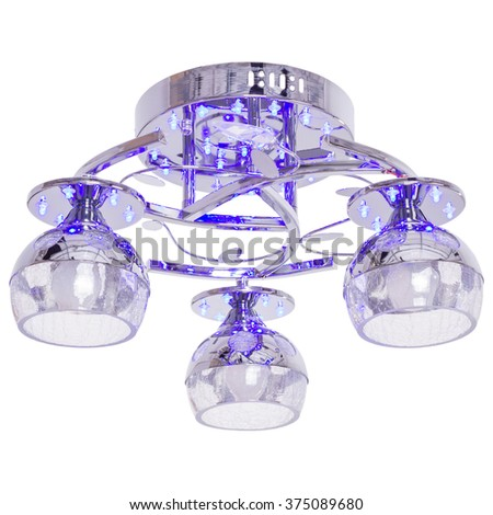 Chandelier isolated on white background