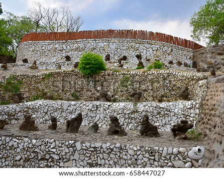 rock garden chandigarh stock images, royalty-free images & vectors