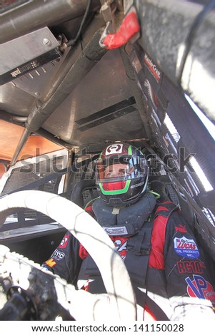 CHANDLER, AZ - OCT 26: Carl Renezeder (1) in his Pro 4 Unlimited Lucas Oil Off Road Series racing for a qualifying session on October 26, 2012 at Firebird International Raceway in Chandler, AZ. - stock photo