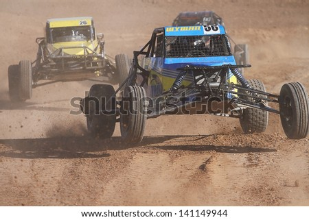 CHANDLER, AZ - OCT 26: Wade Wyman (56) at speed in Pro Buggy Lucas Oil Off Road Series racing during a qualifying session on October 26, 2012 at Firebird International Raceway in Chandler, AZ. - stock photo