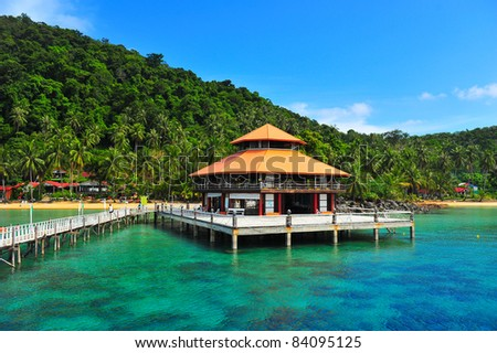 Chang island,tropical island,ThaiLand - stock photo
