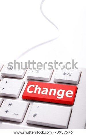 change ahead concept with key on keyboard