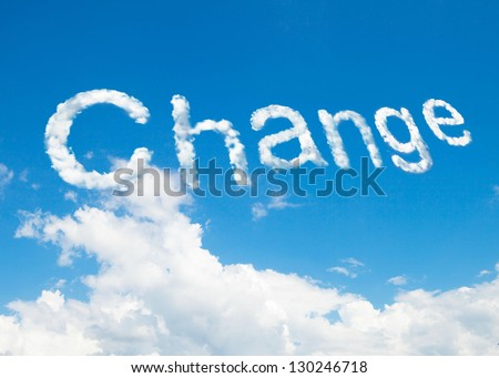 Change cloud word - stock photo