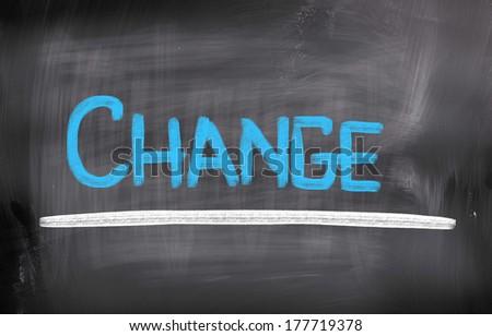 Change Concept - stock photo