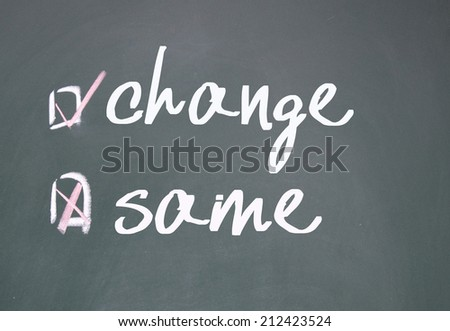 change or same choice  - stock photo