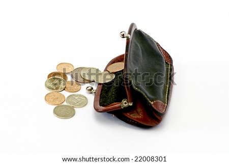 change purse isolated on white