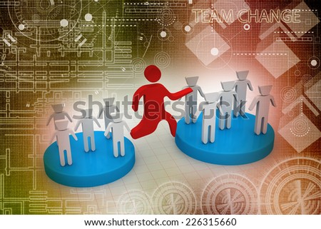 Change Team  - stock photo