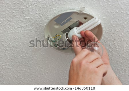 Change the bulb - stock photo