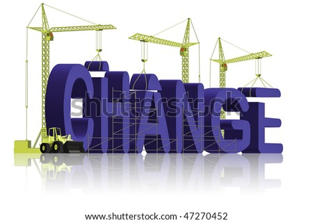 change the world make things better and improve solve problems and achieve success blue different 3D