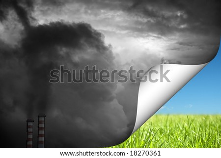 Change to green - stock photo