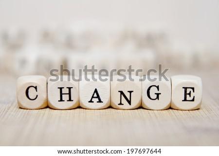 change word concept - stock photo
