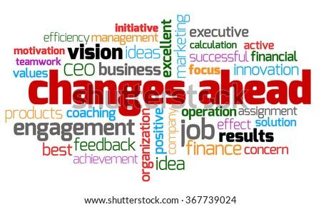 Changes Ahead Keyword - stock photo