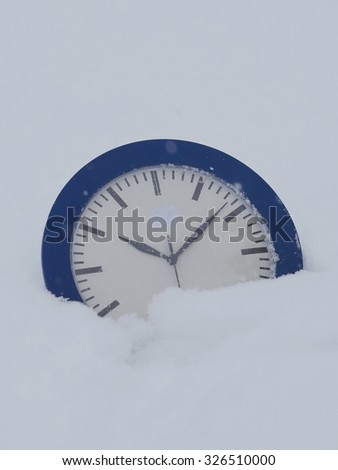 changing clock from summertime wintertime to  - stock photo