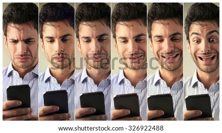 Changing feelings - stock photo