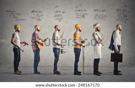 Changing occupation  - stock photo