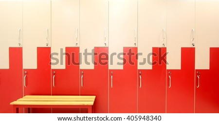 changing room lockers - stock photo