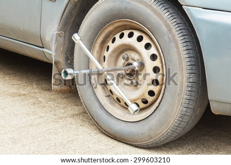 changing wheel of a car