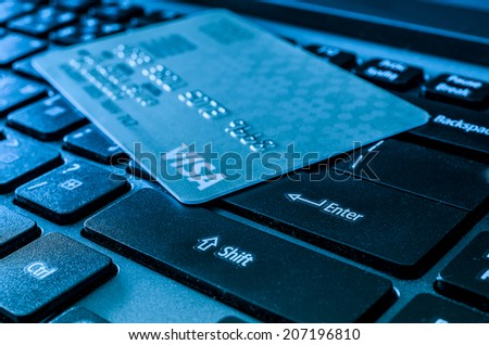 CHANGMAI, THAILAND - July 25, 2014: Visa Credit over keyboard