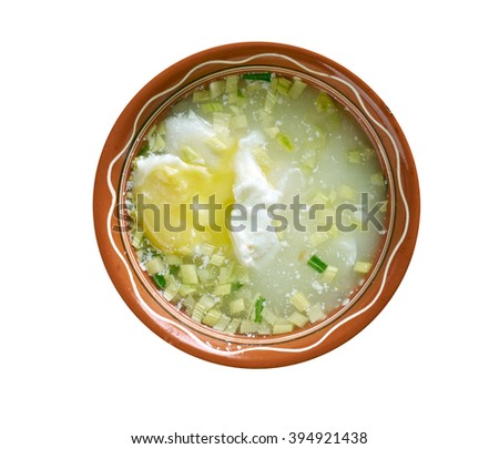 con huevo colombiana poached egg soup colombian cuisine changua con ...