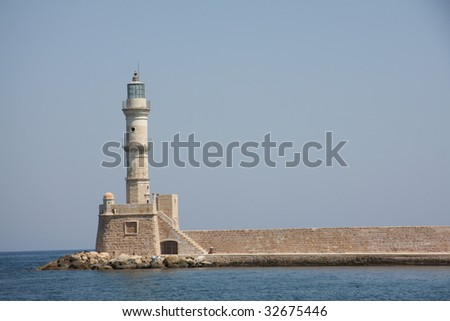 chania historic lighthouse