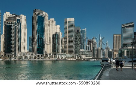 channel in Dubai Marina