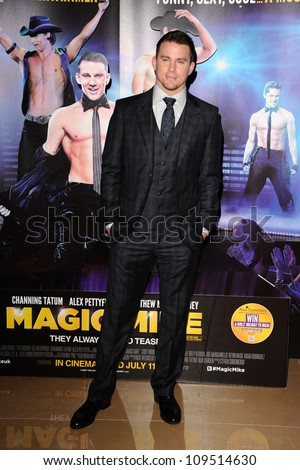 """Channing Tatum arriving for the """"Magic Mike"""" premiere at the Mayfair Hotel, London. 10/07/2012 Picture by: Steve Vas / Featureflash - stock photo"""