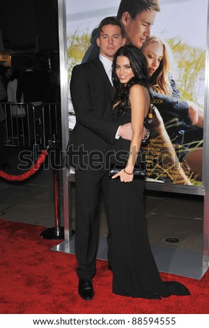 "Channing Tatum & wife Jenna Dewan at the world premiere of his new movie ""Dear John"" at Grauman's Chinese Theatre, Hollywood. February 1, 2010  Los Angeles, CA Picture: Paul Smith / Featureflash"