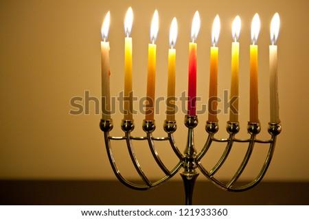 Chanukah Candles - stock photo