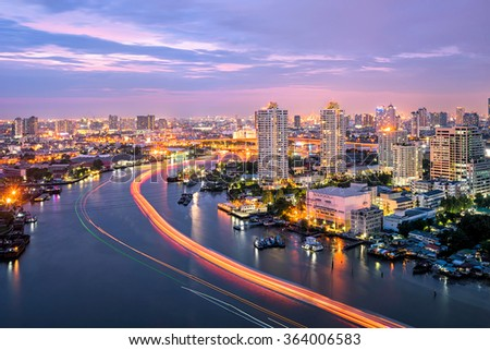 chao phraya river bangkok city
