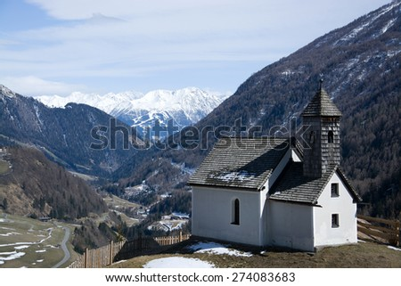 Chapel at the altitude of approx. 1400m at the end of the Valley Virgen, East Tyrol, Austria.