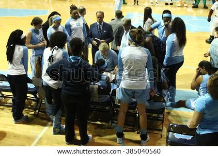 CHAPEL HILL NC FEB 28 Duke Blue Devils Head Coach Sylvia Hatchell Speaks