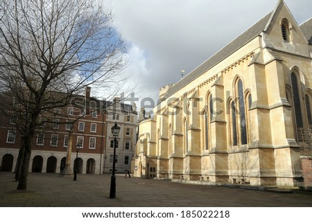 Chapel, Middle Temple, Inns of Court, London - stock photo