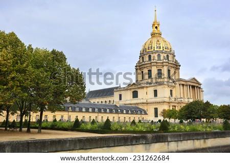 Chapel of Chapel of Saint Louis des Invalides (1679) in Paris. - stock photo