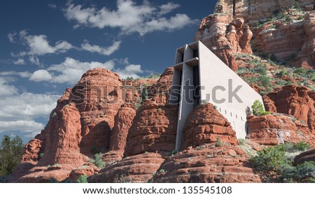 Chapel Of The Holy Cross In Sedona Arizona - stock photo