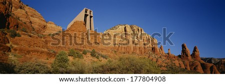 Chapel of the Holy Cross, Sedona, Arizona - stock photo