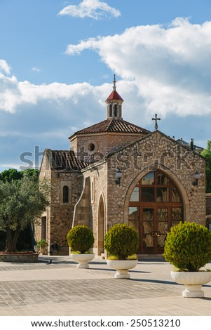 Chapel of the Real Santuario de San Jose de la Montana, Barcelona, Spain - stock photo
