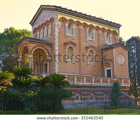 chapel of villa pamphili in rome,italy, - stock photo