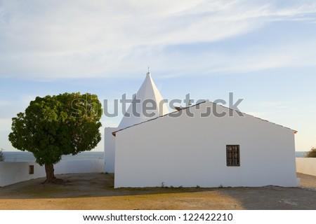 Chapel Senhora da Rocha in Armacao de Pera, Algarve, Portugal - stock photo