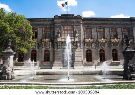 Chapultepec castle, Mexico city - stock photo