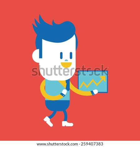 Character illustration design. Businessman delivering the speech cartoon