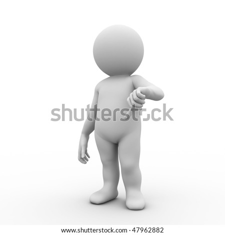 character standing in a negative pose