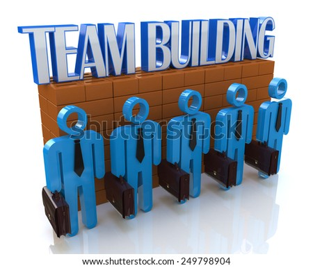 Characters 3d people - Team building  - stock photo