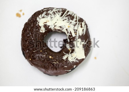 Charcoal Chocolate donut