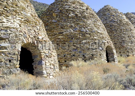Charcoal Kilns in Wildrose, Death Valley National Park, California - stock photo