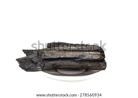 charcoal made of wood - stock photo