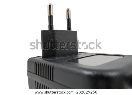 charger for mobile phone isolated on the white background