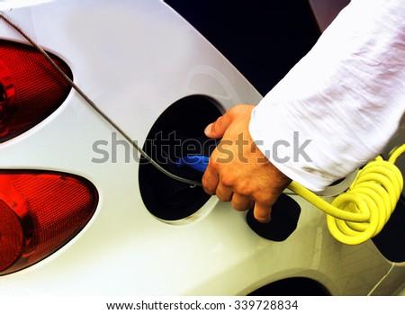 charging car. - stock photo