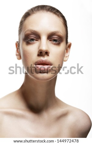 Charisma. Character. Portrait of Young Exquisite Woman. Sensuality - stock photo