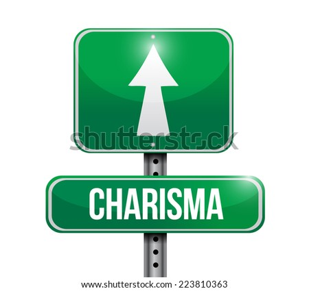 charisma sign illustration design over a white background